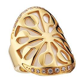 Bvlgari Intarsio Flower Pattern Hollow Gold-plated Studded Pearl Ring Party Queen Dupe Price Malaysia Women