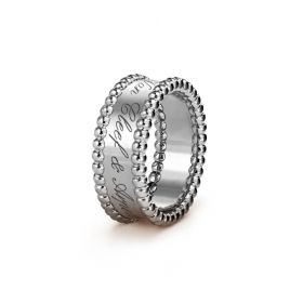 VCA Perlee Signature Silver Symbol Ring Bead Decked Newest Design Sale Online Dubai Unisex Style VCARN32300