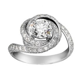 Dupe Cartier Trinity Ruban Solitaire White Gold-plated Ring Rose Design Paved Diamonds Women Review Canada N4250400