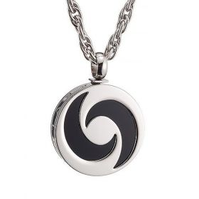 Bvlgari Cool Style Black Moon Detail Silver Chain Necklace Men Sale Malaysia 2018 Review