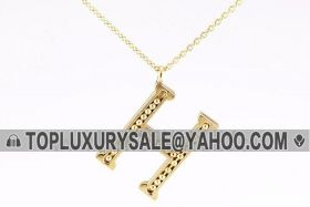 Hermes Gold-plated H Logo Decked Beads Chain Necklace For Unisex Online Shopping Dubai