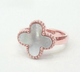 VCA Magic Alhambra Rose Gold-plated Beaded Clover Ring With Pearl Price In Malaysia Women