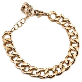 Bvlgari B.zero1 Personalized Unisex Gold-plated Chain Bracelet With The Spiral Charm Singapore Sale
