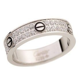 Cartier Love Silver-plated Wide Ring Twice Crystals Screw Motif Black Enamel Women Price In Malaysia