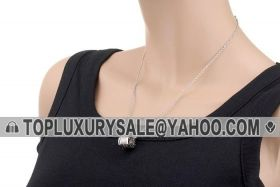 Bvlgari B.zero1 Silver Spiral Charm Chain Necklace Engraved Two Line Crystals Unisex Style Price Dubai