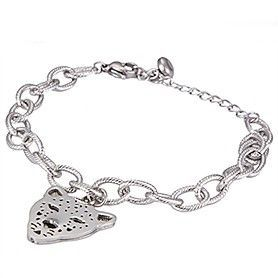 Unique Pathere De Cartier Leopard Head Charm Silver-plated Chain Bracelet Fashion Design Sale 2018 Unisex