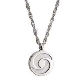 Bvlgari Round Charm Moon Engraved Silver Chain Necklace For Men Price List Malaysia Birthday Gift