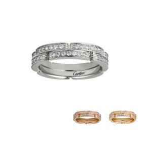 Cartier Maillon Panthere Phony Double Layers Ring Decorated Diamonds For Office Lady Singapore Price B4098900/B4098800/B4216000