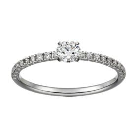 Etincelle De Cartier Silver Crystals Narrow Ring Wedding Gift Sale For Lady Price In Canada N4744300