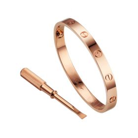 Cartier Love Rose Gold Color Screw Pattern Jessica Alba Style Sale Online Paris With Screwdriver B6035617